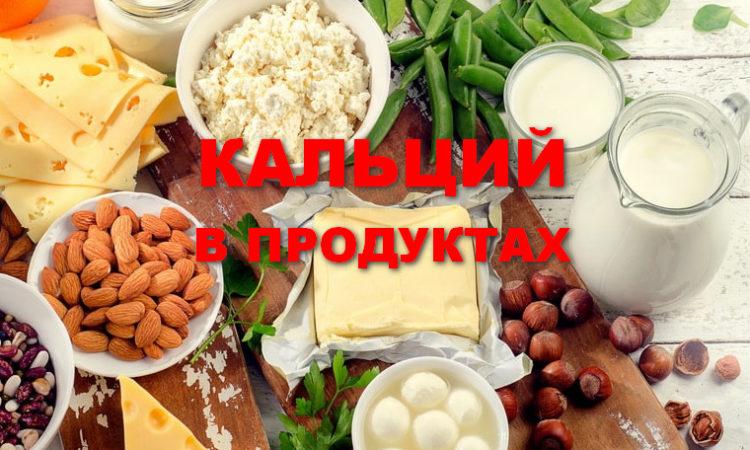 кальций из продуктов