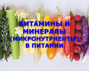 витамины и минералы (микронутриенты)