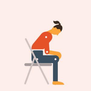 Положения тела после  коронавируса для облегчения одышки сидячее