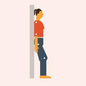 Положения тела после  коронавируса для облегчения одышки стоя с опорой для спины