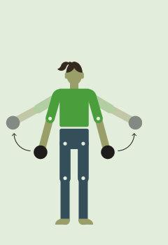 Поднимание рук в стороны упражнение