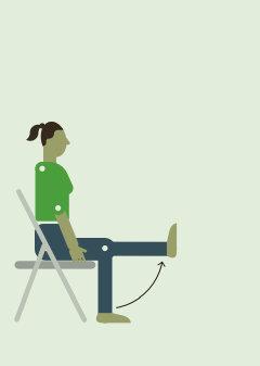 Выпрямление коленных суставов