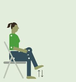 Поднимание коленей в положении сидя